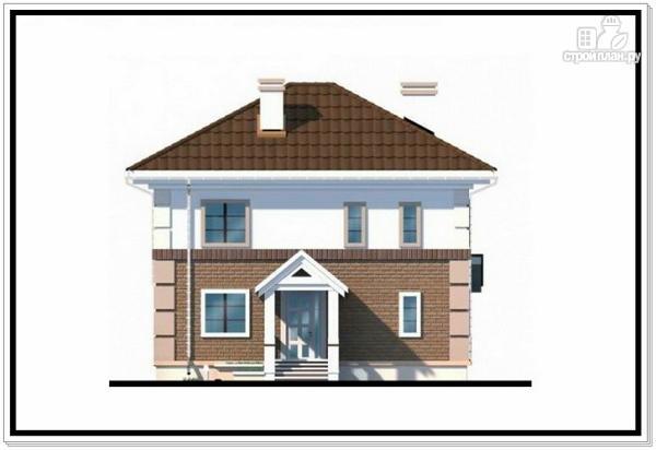 Фото 3: проект двухэтажный дом из пеноблоков с 4 х скатной крышей
