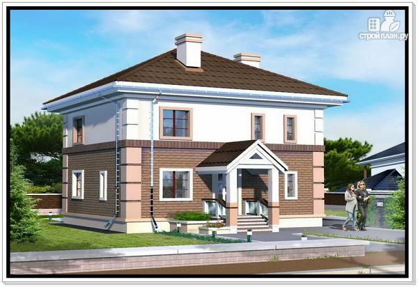 Фото: проект двухэтажный дом из пеноблоков с 4 х скатной крышей