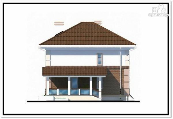 Фото 5: проект двухэтажный дом из пеноблоков с 4 х скатной крышей