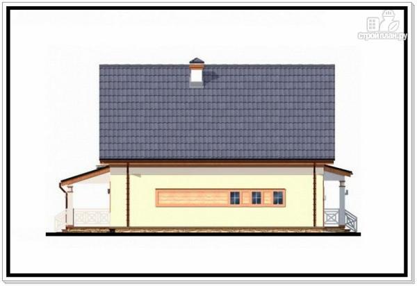 Фото 4: проект дом из пеноблоков с гаражом и террасой