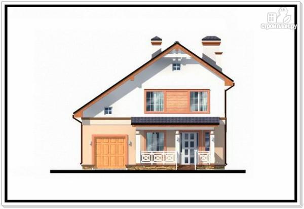 Фото 3: проект дом из пеноблоков с гаражом и террасой