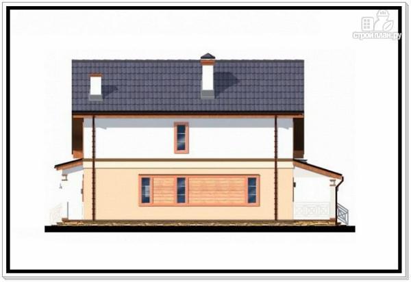 Фото 6: проект дом из пеноблоков с гаражом и террасой