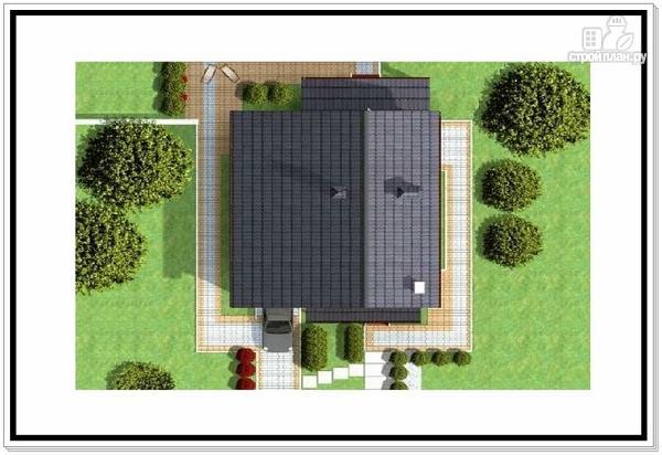 Фото 9: проект дом из пеноблоков с гаражом и террасой