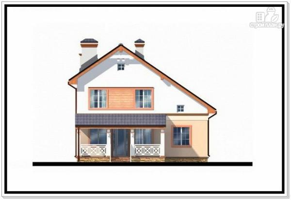 Фото 5: проект дом из пеноблоков с гаражом и террасой