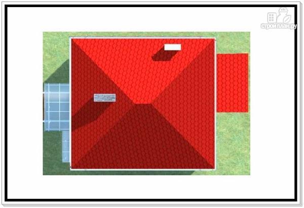 Фото 9: проект коттедж из пеноблоков с четырехскатной крышей