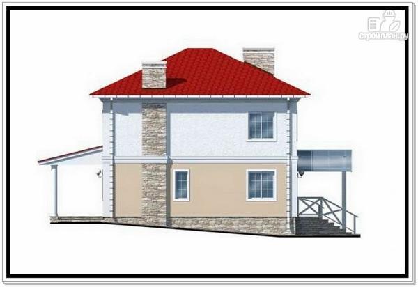 Фото 4: проект коттедж из пеноблоков с четырехскатной крышей
