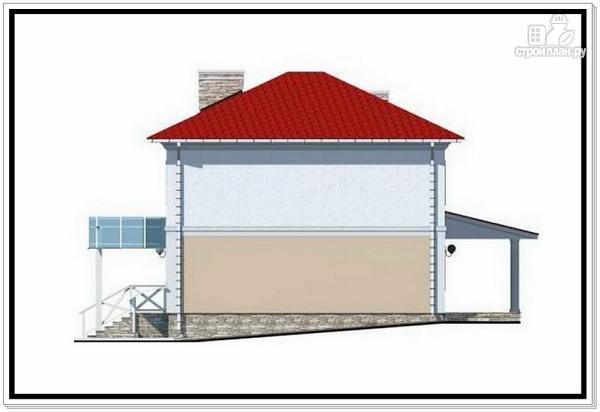 Фото 6: проект коттедж из пеноблоков с четырехскатной крышей