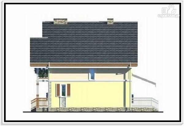 Фото 5: проект 1,5 этажный дом из пеноблоков с балконом