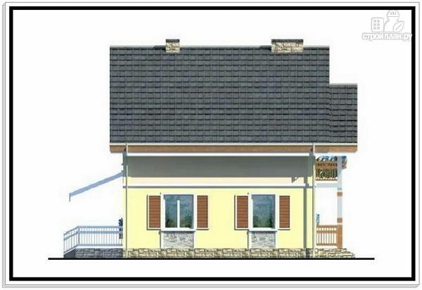 Фото 6: проект 1,5 этажный дом из пеноблоков с балконом