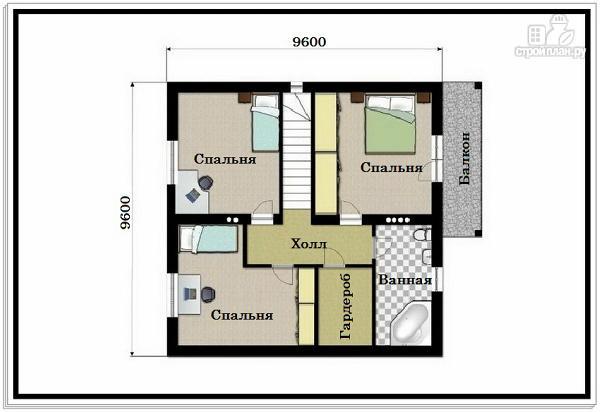 Фото 8: проект 1,5 этажный дом из пеноблоков с балконом