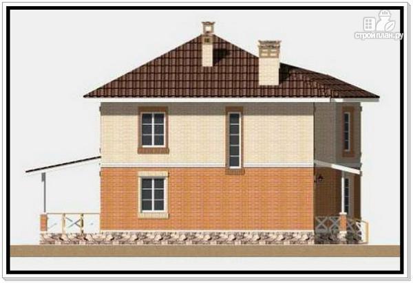 Фото 6: проект 2х этажный дом из пеноблоков с эркером