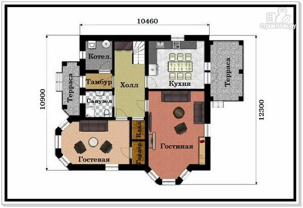 Фото 7: проект 2х этажный дом из пеноблоков с эркером
