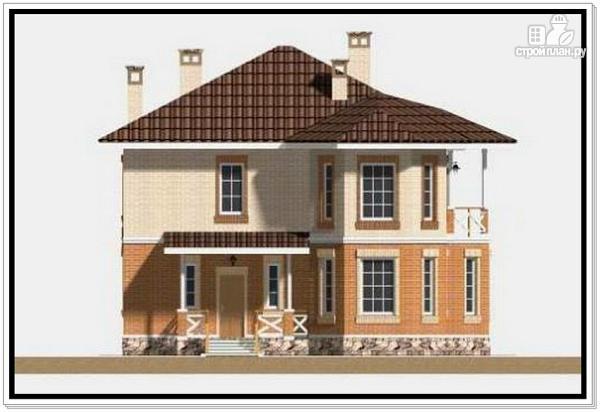 Фото 3: проект 2х этажный дом из пеноблоков с эркером