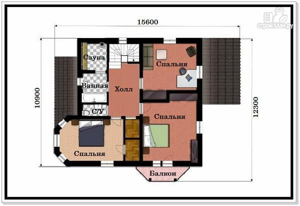 Фото 8: проект 2х этажный дом из пеноблоков с эркером