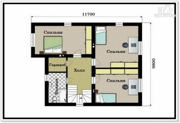 Фото 8: проект 2х этажный дом из пеноблоков с гаражом
