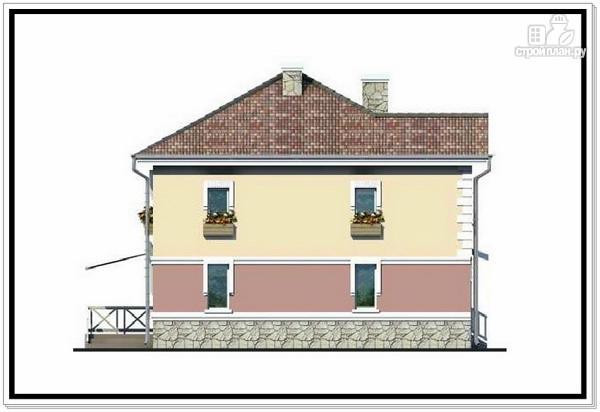 Фото 6: проект 2х этажный дом из пеноблоков с гаражом