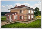 Проект компактный дом из пеноблоков