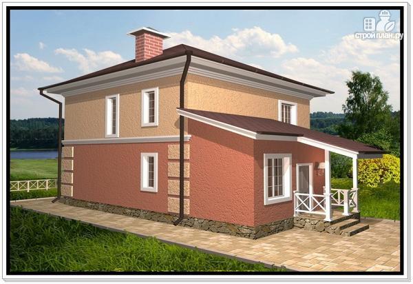 Фото 2: проект компактный дом из пеноблоков