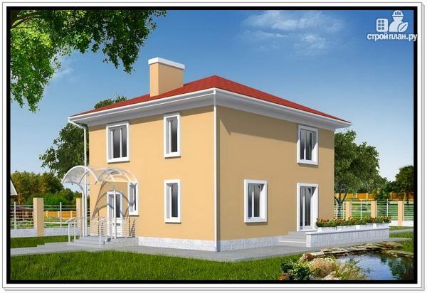Фото: проект квадратный дом из пеноблоков