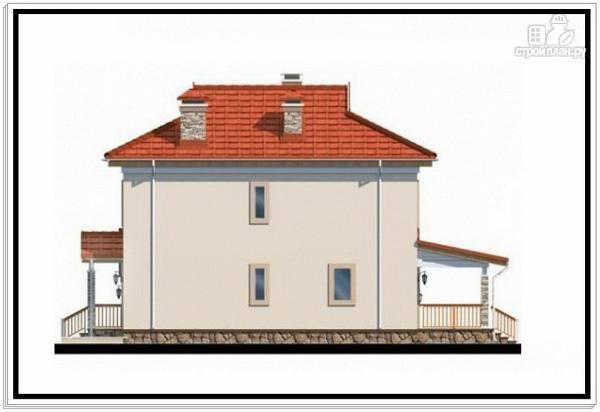 Фото 5: проект большой дом из пеноблоков с гаражом