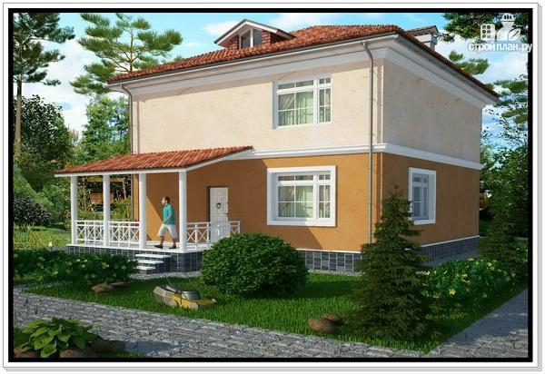 Фото 2: проект двухэтажный дом из пеноблоков 10 на 10