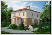 Фото: двухэтажный дом из пеноблоков 10 на 10
