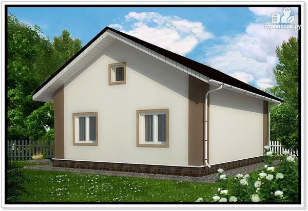 Фото 2: проект одноэтажный дом из пеноблоков