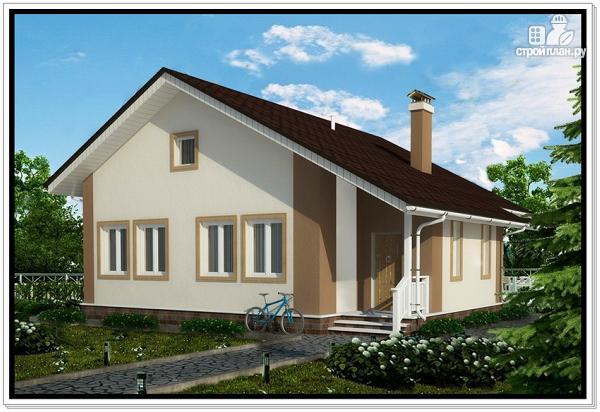 Фото: проект одноэтажный дом из пеноблоков