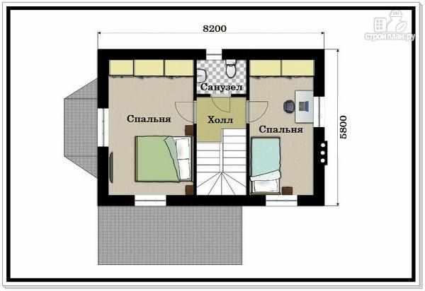 Фото 8: проект дом из пеноблоков для узкого участка