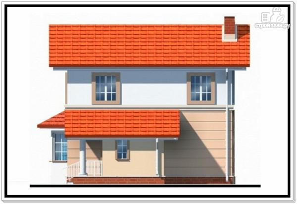 Фото 6: проект дом из пеноблоков для узкого участка