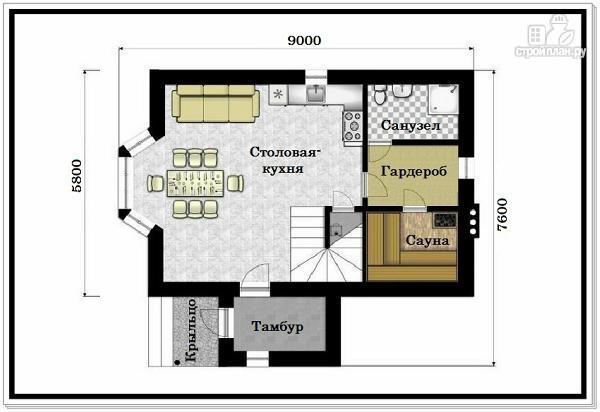Фото 7: проект дом из пеноблоков для узкого участка