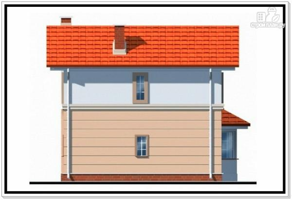 Фото 4: проект дом из пеноблоков для узкого участка