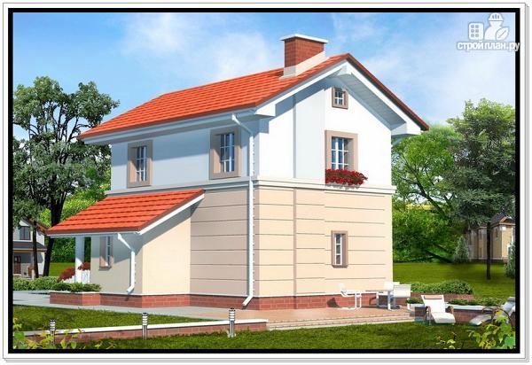 Фото 2: проект дом из пеноблоков для узкого участка