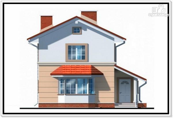 Фото 3: проект дом из пеноблоков для узкого участка