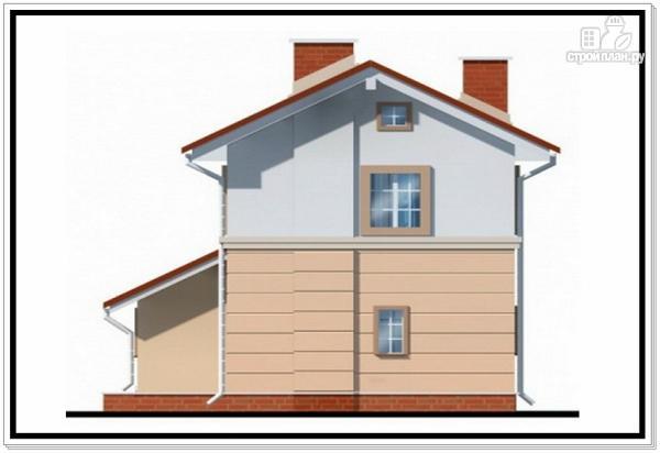 Фото 5: проект дом из пеноблоков для узкого участка