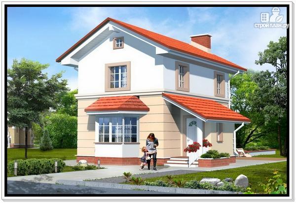 Фото: проект дом из пеноблоков для узкого участка