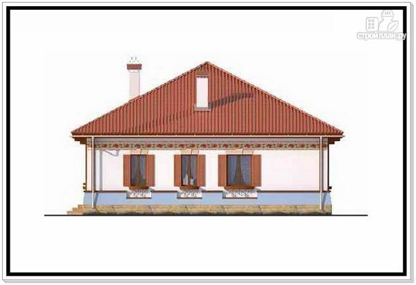 Фото 4: проект одноэтажный дом из пеноблоков с 4 х скатной крышей