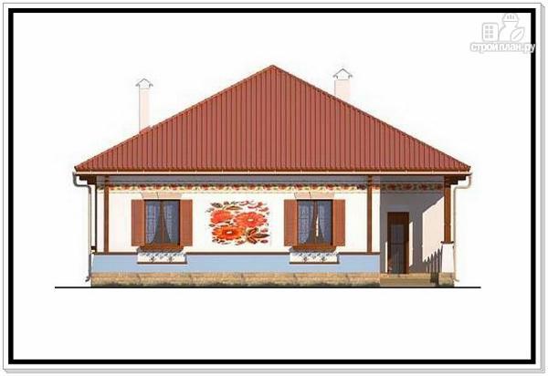 Фото 6: проект одноэтажный дом из пеноблоков с 4 х скатной крышей