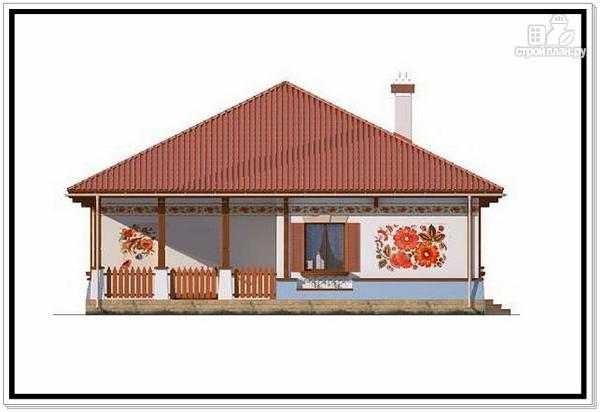 Фото 5: проект одноэтажный дом из пеноблоков с 4 х скатной крышей