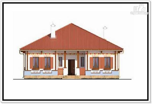 Фото 3: проект одноэтажный дом из пеноблоков с 4 х скатной крышей