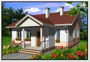 Проект одноэтажный дом из пеноблоков