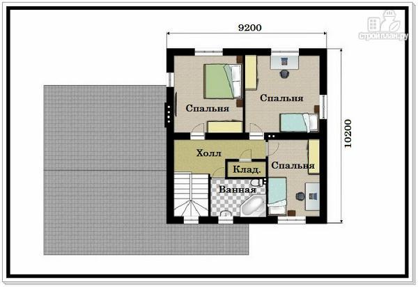 Фото 8: проект 2хэтажный коттедж из пеноблоков с гаражом