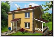 Фото: дом из пеноблоков 9 на 10 с террасой
