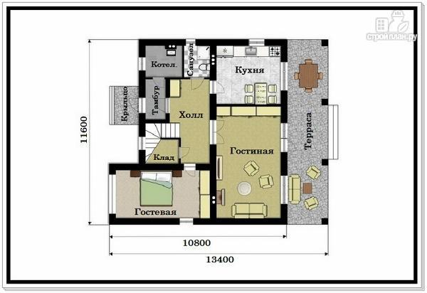 Фото 2: проект двухэтажный дом из пеноблоков