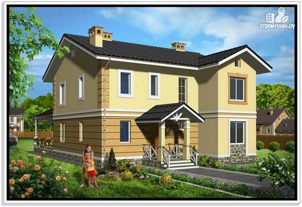 Фото: проект двухэтажный дом из пеноблоков