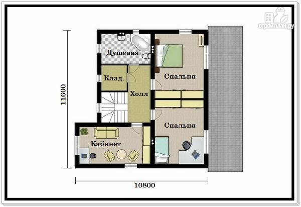 Фото 3: проект двухэтажный дом из пеноблоков