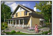 Проект загородный дом из пеноблоков
