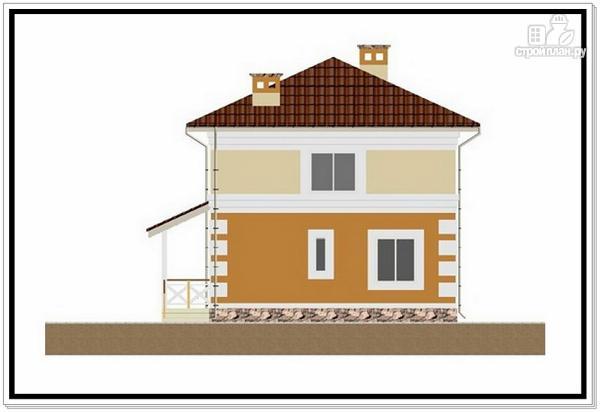 Фото 5: проект дом из пеноблоков с 4 х скатной крышей