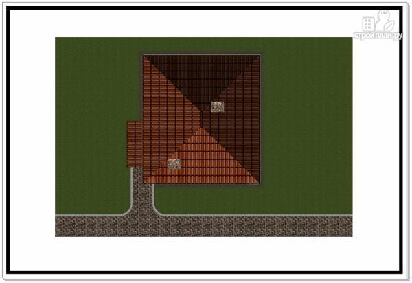 Фото 8: проект дом из пеноблоков с 4 х скатной крышей