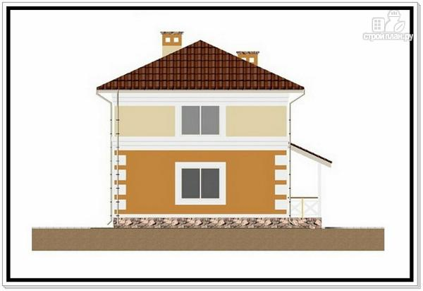 Фото 3: проект дом из пеноблоков с 4 х скатной крышей